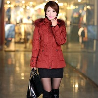 Quinquagenarian down coat female short design women's with a hood elderly clothing