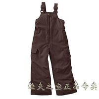 Child outdoor skiing pants trousers bib pants jumpsuit trousers outdoor thickening warm pants