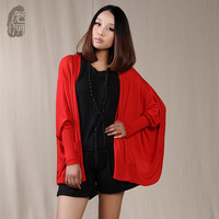 Batwing sleeve long-sleeve cardigan solid color sweater loose 2013 autumn women's cardigans