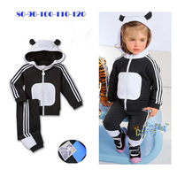 2013 autumn  baby  sports suit high quality  for  boy   free shipping  black and white  long sleeve casual  suit