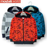 2013 autumn winter children's male sweatshirt outerwear