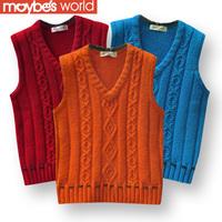 autumn winter   male child sweater  boy vest