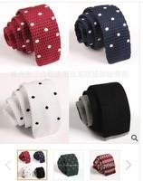 Korean-style snowflake Polka Dot Tie Men flathead supporting performances leisure knitted tie narrow tie wedding13112201