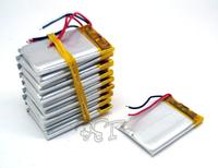 10pcs Lithium  Li-polymer rechargeable Battery Li-Po 3.7V 200 mAh for bluetooth mp3 mp4 gps psp 402030