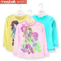 2013 autumn winter children's clothing female child long-sleeve T-shirt female big boy child basic shirt