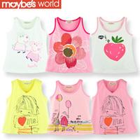 2013 summer children's female  vest t-shirt spaghetti strap basic