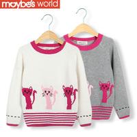 2013 autumn winter children's clothing female child sweater child baby 100% cotton sweater