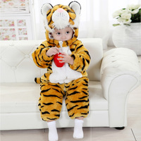 Baby bodysuit winter children's clothing baby clothes tiger style romper winter thickening child one piece romper