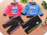baby sets spring autumn baby sports suit  sell well  for children Monsters University  long sleeve casual  suit