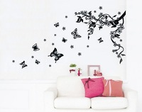 Free shipping 3D wall sticker decals house stickers wallpaper Butterfly pattern JM8062