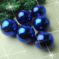 Christmas ball blue light ball christmas tree hangings light 5cm ball Christmas plated ball