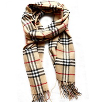 80165 Fashion Mens Scarves Designer Striped Plaid Warm Soft Tassel Beige Long Winter Womens Scarfs 2013 New Free Shipping