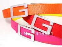 New Arrival Women's Fashion Brief Luxury Classic G Prefixes Hasp Strap Unisex Leather Belt 100pcs