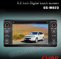 6.2inch CS-M023 car radio with dvd player,supports Ipod,Bluetooth,RDS,SD,TV,audio,USB FOR MITSUBISHI OUTLANDER