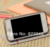 Factory Direct New For Apple IPHONE 5C with bracket bark pattern card  leather case 8 color choose Free ship
