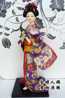 Geisha doll japanese style home decoration crafts 38cm