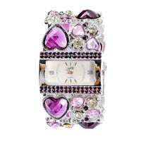 gift items fashion women watch 2pcs Free shipping  Antique Crystal Rhinestone Women Lady Alloy Quartz Adjustable Wrist Watch