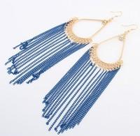Street-Chic Tassel Drop Earrings Bohemian Statement Earrings cxt901397
