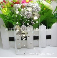 For Sony Ericsson LT18i LT15i mobile shell diamond paste shell transparent shell Clover