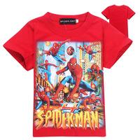 2014 New HOT Spiderman Children's T-shirt Spiderman Baby boy short sleeves T shirts Child Children's Clothing  free shipping