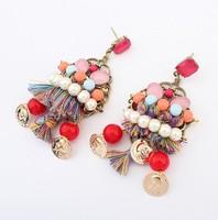 Standout Colorful Bohemian Tassel Drop Earrings Fashion Statement Jewelry  cxt901388