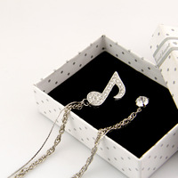Ant musical note diamond white tassel gualian brooch male accessories