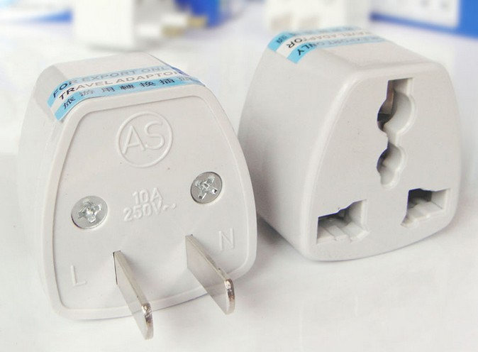 Free shipping EU & UK to US Universal AC Power Plug Adaptor Convert Transfer US Wireless 20pcs/lot Plug Travel Converter Adapter(China (Mainland))