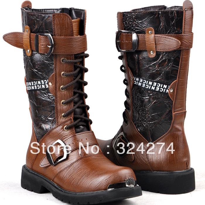vintage denim martin boots high boots fashion high