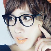 Round box eyeglasses frame glasses fashion two-color glasses myopia glasses 394