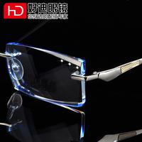 Male myopia rimless eyeglasses frame finished products diamond glasses frame quality glasses