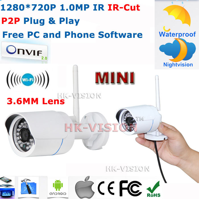 Камера наблюдения HK-VISION ONVIF /P2P 1.0mP HD WiFi IP IP66 CCTV IP /720 P HK-Q6320-WiFi hd bullet ip camera 1 3mp 960p outdoor waterproof infrared night vision security surveillance cctv mini webcam freeshipping