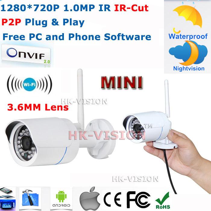 Камера наблюдения HK-VISION ONVIF /P2P 1.0mP HD WiFi IP IP66 CCTV IP /720 P HK-Q6320-WiFi hkes full hd 1080p bullet outdoor security camera ip 1920x1080 resolution 25meter night vision ip66 waterproof