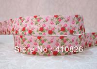 WM ribbon wholesale/OEM 5/8inch 1122009  folded over elastic FOE 50yds/roll free shipping