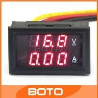 Digital Voltmeter/Ammeter 2in1 YB27VA DC 4.5-30V/10A Red LED Digital Voltmeter/Ammeter DC Volt Amp Panel Meter 2in1 #210032
