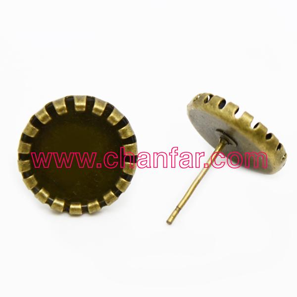 Free Shipping,100pcs/bag Copper Earring Back Earring Jackets Base Blank 10MM Vintage Earring Jackets(China (Mainland))