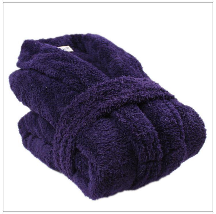 Purple-thickening-coral-fleece-robe-love