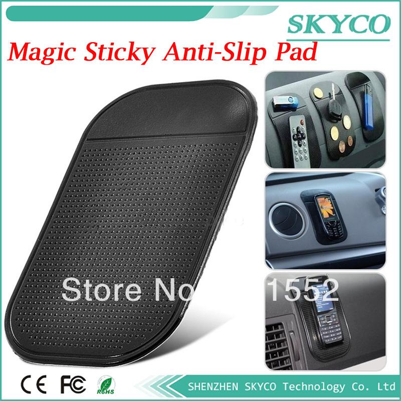 Silicone Skin Mat Car Pad Anti skid Mat Non-slip Pad Holder Car Anti slip mat for phone pad MP3 MP4 Free shipping(China (Mainland))