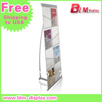 A4 Aluminum net brochure holder  magazine rack menu holder catalogue shelf FEDEX IE FREE SHIPPING to USA  BLM-312