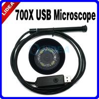 4LED Magnifier Camera 700X Digital Waterproof USB Mini Microscope EMS S-04