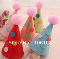 Free Shipping DIY Korean Cartoon Christmas Birthday Party Hats Cloth Jewelry Accessories 30Pcs/Lot