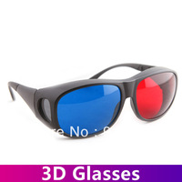 High Quality New Red Blue 3D Anaglyph glasses for 3D Movie Free Shipping 10pcs !