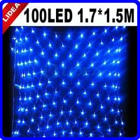 110V/220V 100 LED Christmas Party Fairy Xmas Mesh Pattern Blue Holiday Light CN C-23B