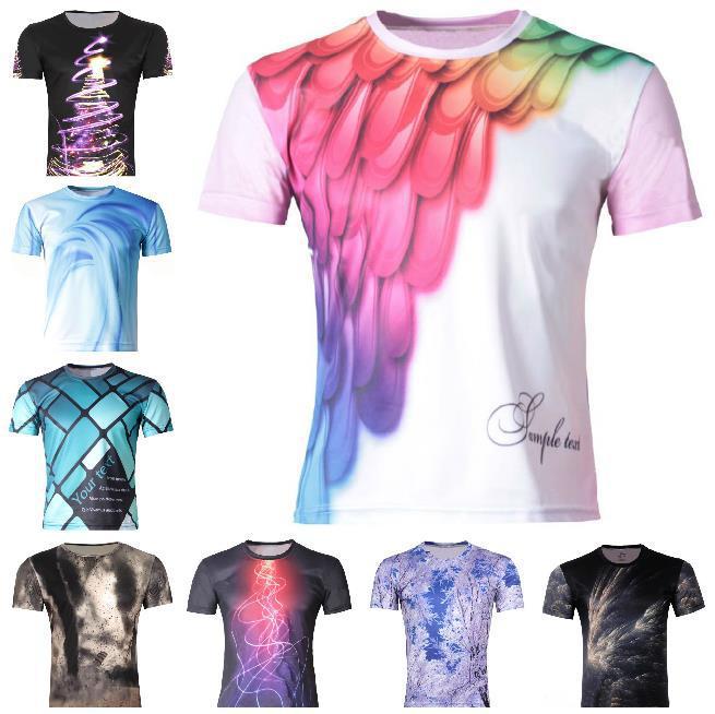 New Men's 3D Animal T-Shirt,Men Lion/dragon/dog/leopard/cat T ...