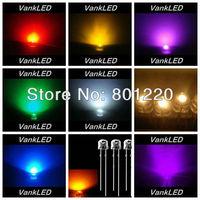 9x1000pcs/Color=9000pcs 5mm Straw Hat Ultra Bright R/G/Bl/W/Y/Purple/Pink/Orange/ Warm White/ Wide Angle LED Lamp Long Legs