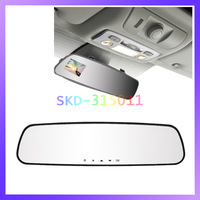 Super Slim Vehicle Black Box 140 Degree Angle 2.7 Inch TFT Screen Car HD DVR Rearview Mirror Recorder