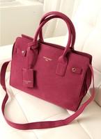 Carteras Fashion big bags 2013 women's handbag vintage women's nubuck leather handbag shoulder bag platinum  bolsas femininas