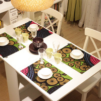 free shipping Fashion double layer fabric mat coasters table mat heat insulation pad