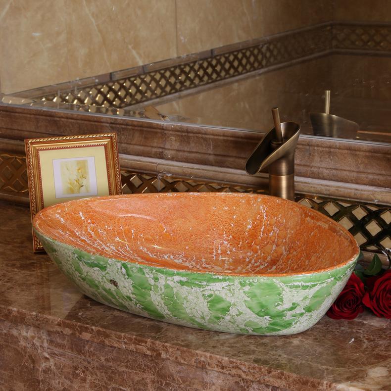 Online kopen wholesale waskom uit china waskom groothandel - Stenen wastafel ...
