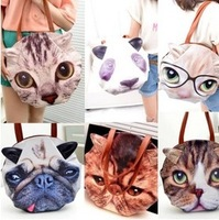 Free ship!Women Fashion Personalized retro cat dog head bag / big European and American fashion handbags Messenger