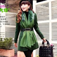 2013 autumn and winter wool coat women slim fashion plus size woolen overcoat long design woolen outerwear